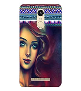 PrintDhaba Beautiful Girl D-5079 Back Case Cover for XIAOMI REDMI NOTE 3 PRO (Multi-Coloured)