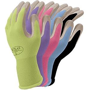 Atlas NT370 Nitrile Garden and Work Gloves, Cornflower Blue, Small