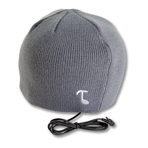 Tooks Classic Headphone Audio Beanie Hat With Built-In Removable Headphones - Color: Gray, Unique Gift Idea