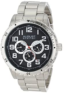 buy August Steiner Men'S As8060Ss Quartz Multi-Function Bracelet Watch