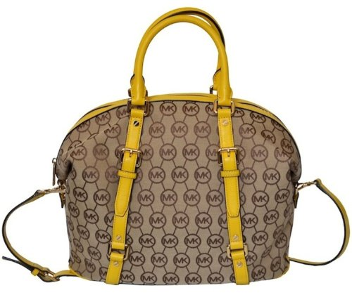 Michael Kors Monogram Bedford Lg Satchel Handbag