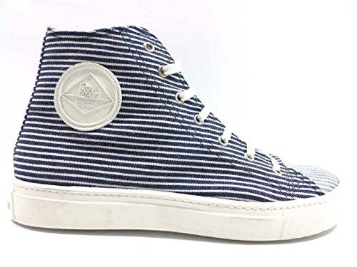 scarpe uomo ROY ROGERS sneakers bianco tessuto blu AH501 (40,5 EU)