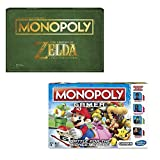 Monopoly Gamer Super Mario Bros and The Legend of Zelda Collector's Edition Board Game Bundle