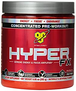 BSN HYPER FX - Fruit Punch, 9.95 oz (30 Servings)