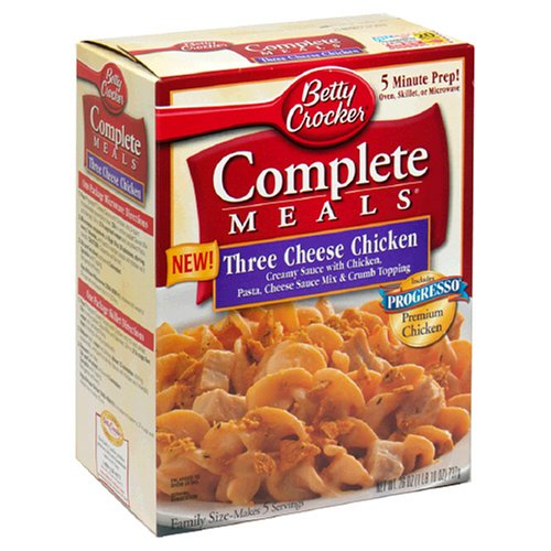 Amazon.com : Betty Crocker Complete Meals, Three Cheese Chicken, 26