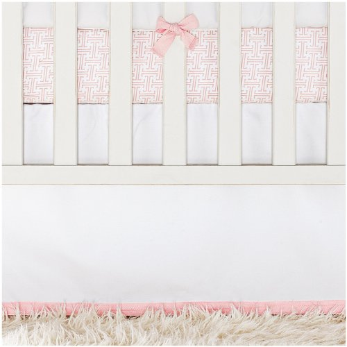 Serena & Lily Nursery Basics Crib Skirt - Shell - 1