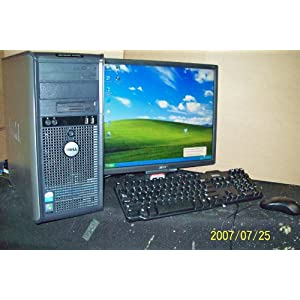 Dell Optiplex GX620 Desktop Computer With LCD Monitor