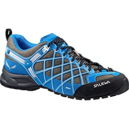 Salewa Men\'s Wildfire Vent Tech Approach Shoe, Walnut/Mayan Blue, 12 M US