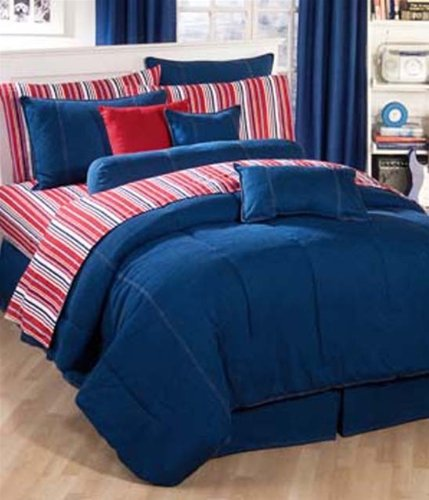 American Denim Comforter Set, Queen
