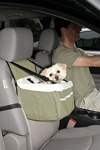 Portable Car Pet Booster Seat with Clip-On Safety Leash And Zipper Storage Pocket (Small Dog Booster Seat compare prices)