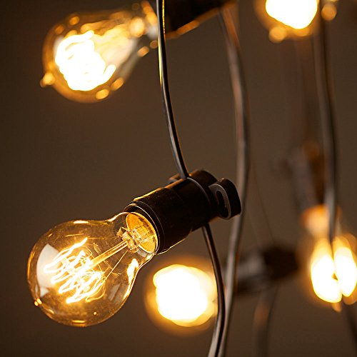ANYQOO Victorian Vintage Edison Bulb 40W A19 Dimmable Spiral Filament Incandescent Lamp for Decorative Pack of 4 1