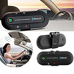 BlueInkTM Portable Multipoint Wireless Bluetooth Hands-Free Speakerphone Car Bluetooth Kit With Hands-Free Sun Visor Magnetic Clip (Black)