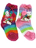 2 Pair Assorted Hello Kitty Slipper Socks (Size 6-8) - Kids Socks