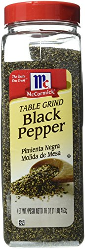 McCormick Black Pepper, Table Ground, 16 Ounce