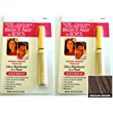 Renoir x2 Brush It Away Instant Hairline Touch-up Medium Brown + 7in Brilliance Comb