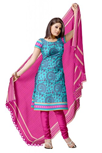 Traditional Printed Cotton Churidar Dress Material ...