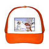 Snowman Products Trucker Hat Orange Snap Back Baseball Cap