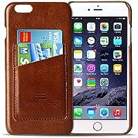 Exinoz Genuine Leather Wallet Case for Apple iPhone 6s Plus & 6 Plus