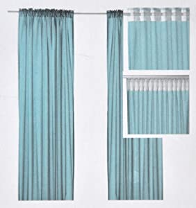 Ikea Vivan Turquoise Curtains Drapes 2 Panels 57 By 98 1 2 Inches Window Treatments