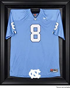 North Carolina Tar Heels Mahogany Framed Logo Jersey Display Case by Sports Memorabilia