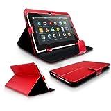 Rot Tasche für Jay-tech Jay Tech 9,7 zoll Pc 9000 Tablet Pc Ledertasche Schutztasche Schutzhülle Hülle Tasche bookstyle Buchtasche klapptasche Schutz Tablet - Android Tablet Tasche - mit Aufstehlfunktion - Rote Tasche