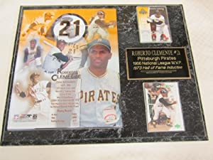 Roberto Clemente Pittsburgh Pirates Commemorative 2 Card Collector Plaque w 8x10... by J & C Baseball Clubhouse