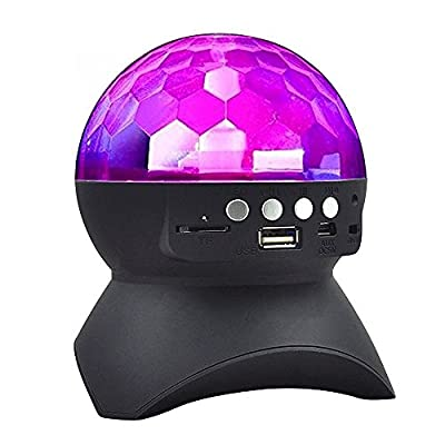 RAYKEY Disco Lights, Disco Ball Light with Bluetooth Speaker, DJ lights with Remote Control for Party and Family Gathering, Best Christmas Gifts by Raykey