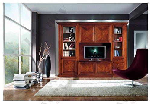 Mobile componibile, stile classico, in legno massello e mdf con rifinitura