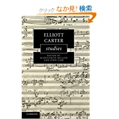 Elliott Carter Studies (Cambridge Composer Studies)