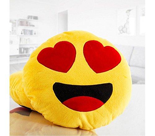 621038 Cuscino emoticon occhi a cuoricino emoji pillow faccine diametro 30 cm. MEDIA WAVE store