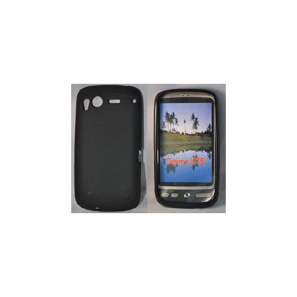 Black Gel case cover pouch holster for htc desire G7 Electronics
