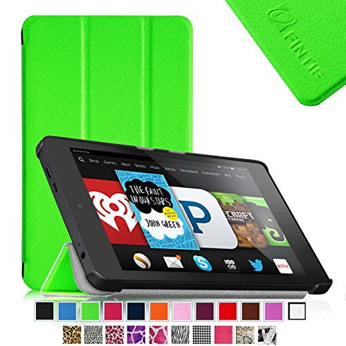Fintie Fire Hd 6 Tablet (2014 Oct Release) Smartshell Case Cover Ultra Slim Lightweight With Auto Sleep / Wake Feature (Will Only Fit Amazon Kindle Fire Hd 6-Inch Tablet 2014 Release) - Green front-347725