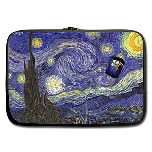 CASECOCO(TM) - Doctor Who Tardis in Starry Night Neoprene 13/13.3 Inch Laptop / Notebook Computer / MacBook / MacBook Pro Sleeve Case,Twin Sides