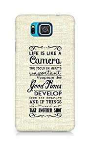 AMEZ life is like a camera Back Cover For Samsung Galaxy Alpha