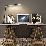 AUKEY-12W-LED-Schreibtischlampe-Dimmbar-Touch-5-Modi-7-Helligkeitsstufen-mit-LED-Nachtlicht-Auto-Timer-USB-Output-Schwarz-LT-T10