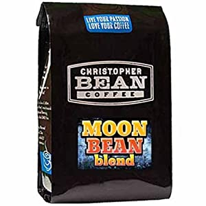 Christopher Bean Coffee Decaffeinated Whole Bean Ground Coffee, Decaf Moon Bean Blend, 12 Ounce