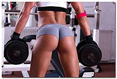 BestWeeks BodyBuilding Women Fitness Motivational Art Photo Poster Poster Gym Picture For Wall Decor 172