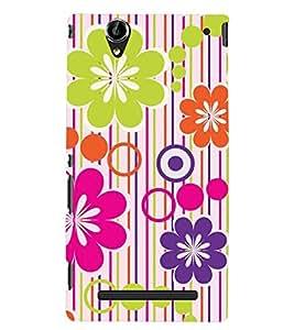 PRINTSWAG FLOWER DESIGN Designer Back Cover Case for SONY XPERIA T2 ULTRA