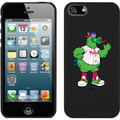 Best Price Philadelphia Phillies - Mascot design on a Black iPhone 5 Thinshield Snap-On Case by Coveroo