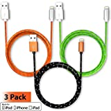 Pawtec Premium Lightning To USB Charge And Sync Cable Apple MFi Certified 6.6 Feet / 2 Meter Extra Long Braided...