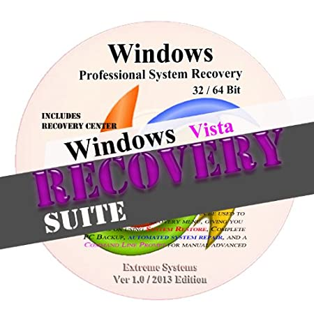 Windows Advanced VISTA System Recovery disk Live Boot CD 32/64 bit DVD. (disc is comparable with Home Basic, Home Premium, Business, and Ultimate)