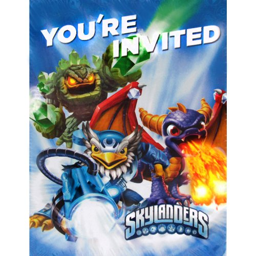 Skylanders Giants Invites and Thank You Cards w/ Envelopes (8ct each)