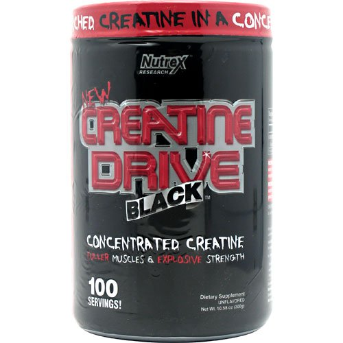 Nutrex Creatine Drive Black Unflavored - 100 Servings - 10.58 Oz (300G)