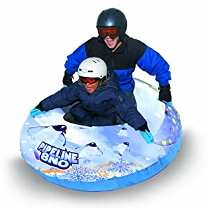 Buy Aqua Leisure-Domestic Toys Winter Inflatable Round Pipeline Transparent Penguin Snow Long Body Tube Sled for 2 ( Two )... by Aqua Leisure-Domestic Toys