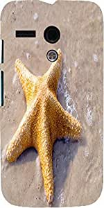 Snoogg Starfish At The Exotic Beach Designer Protective Back Case Cover For M...