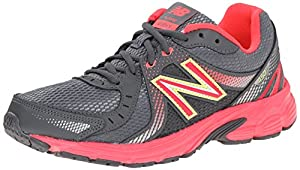 New Balance Women's W450V3 Running Shoe, Dark Grey/Red, 8 B US