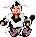 Lil Characters Unisex-baby Newborn Mini Moo Costume, White/Black, Small