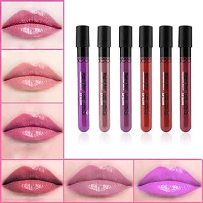 Lookatool 6 PCS Lip Gloss Lipstick Matte Velvet Waterproof Super Long Lasting Not Fade