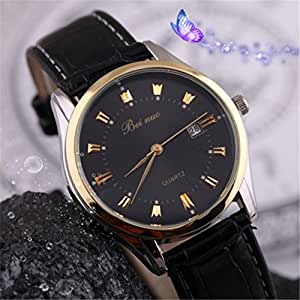 Male Clock Business Men Wristwatches Relogio : Sports & Outdoors