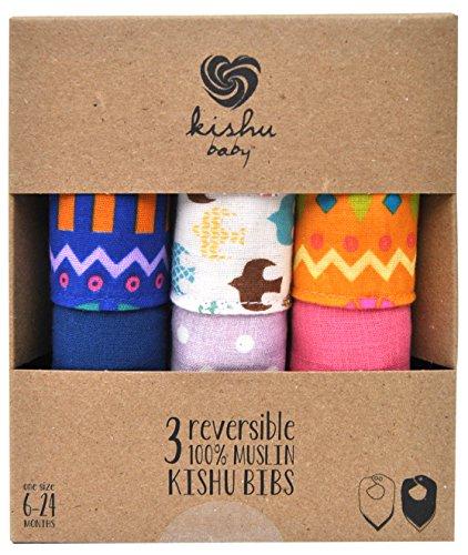 Bandana Bibs Girl | Kishu Baby Girls Reversible Boho Bandana Bib Multipack | One Size - 1